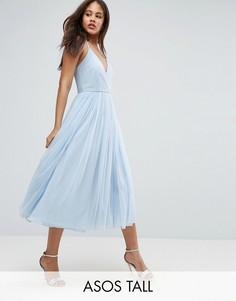 Платье миди с юбкой из тюля ASOS TALL - Мульти