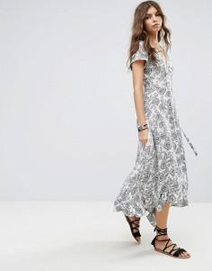 Пляжное платье макси с цветочным принтом Lira - Мульти