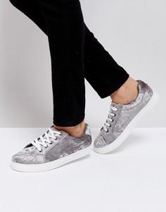 Кроссовки из бархата Truffle Collection - Серый