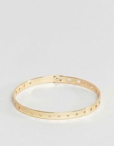 Регулируемый металлический браслет ASOS - Золотой