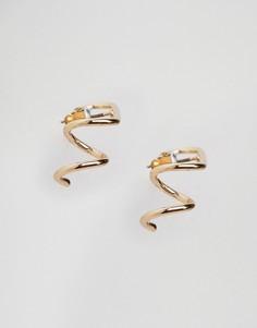 Металлические серьги с витой отделкой ASOS - Золотой