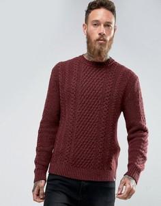 Джемпер крупной вязки Edwin United - Красный