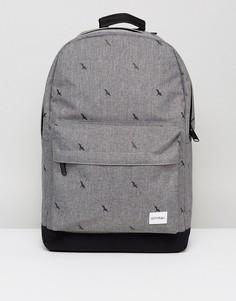 Рюкзак с принтом птиц Spiral - Серый