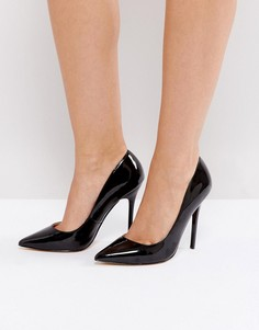 Лакированные туфли-лодочки с острым носом Office - Черный