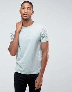 Синяя футболка с круглым вырезом Burton Menswear - Синий
