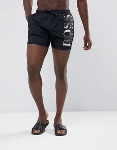 Черные шорты для плавания BOSS By Hugo Boss Octopus - Черный
