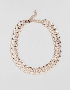 Ожерелье из цепочки с крупными звеньями DesignB London - Золотой