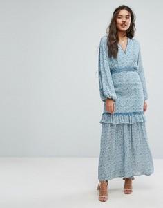 Платье макси с цветочным принтом Stevie May The Mystic Billow - Мульти