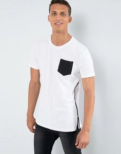 Длинная футболка с карманом и молнией Loyalty and Faith - Белый