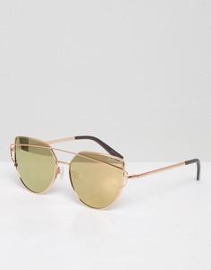 Солнцезащитные очки с зеркальными стеклами Black Phoenix - Кремовый