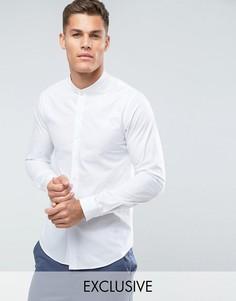 Облегающая рубашка с воротником в рубчик Noak - Белый