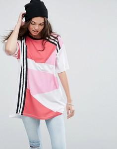 Oversize-футболка с принтом ASOS - Розовый