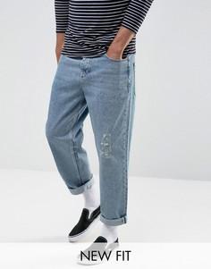 Голубые выбеленные джинсы ASOS - Синий