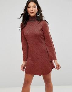 Платье с высокой горловиной Glamorous - Красный