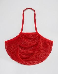 Сумка-шоппер из веревки ASOS BEACH - Красный
