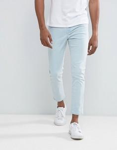 Голубые зауженные джинсы Brooklyn Supply Co - Синий