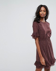 Платье в горошек Y.A.S Drift - Коричневый