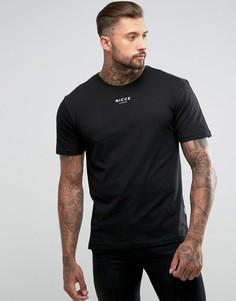 Свободная футболка Nicce London - Черный
