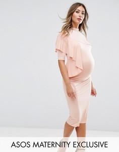 Платье на одно плечо ASOS Maternity - Розовый