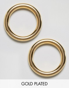 Позолоченные серьги-кольца Gogo Philip - Золотой