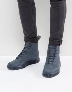 Замшевые ботинки с 8 парами люверсов Dr Martens Kamar - Синий