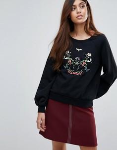 Свитшот с вышивкой Vero Moda - Черный