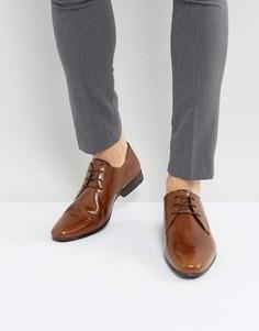 Кожаные строгие туфли Burton Menswear - Рыжий
