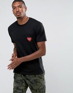 Футболка с логотипом на кармане Poler - Черный