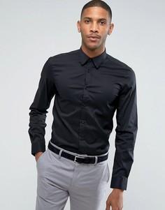 Черная облегающая эластичная рубашка United Colors of Benetton - Черный