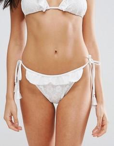 Плавки бикини с отделкой PrettyLittleThing - Белый