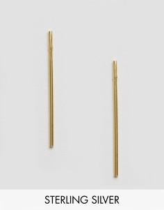 Серьги-подвески из позолоченного серебра ASOS - Золотой