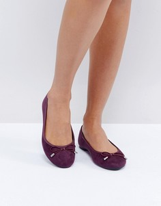Балетки из искусственной замши New Look - Фиолетовый
