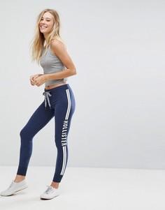 Спортивные брюки скинни Hollister - Темно-синий