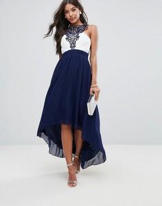 Платье макси с кружевом Little Mistress - Серый
