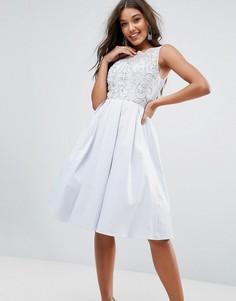 Кружевное платье для выпускного Little Mistress - Серый