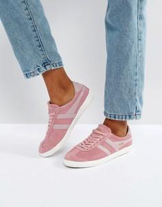 Розовые кожаные кроссовки с потрескавшимся эффектом Gola Specialist - Розовый