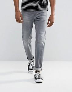 Серые выбеленные суженные книзу джинсы стандартного кроя Diesel 084HP - Серый