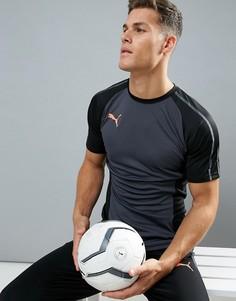 Черная спортивная футболка Puma Football evoTRG 65533706 - Черный