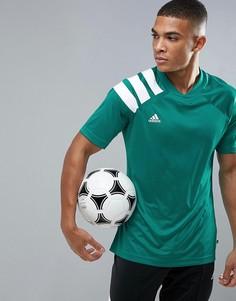 Зеленая футболка с принтом в стиле 90-х adidas Football CD1100 - Зеленый
