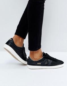 Черные кожаные кроссовки с потрескавшимся эффектом Gola Specialist - Черный