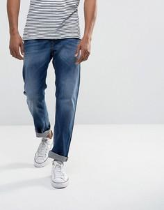Выбеленные прямые джинсы Diesel Waykee 084GR - Синий