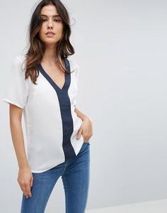 Блузка с контрастной отделкой Vila - Мульти