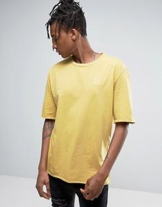 Желтая oversize-футболка с рваной отделкой Puma эксклюзивно для ASOS 57530702 - Светло-серый