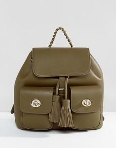 Рюкзак с двумя карманами и кисточками Marc B - Зеленый