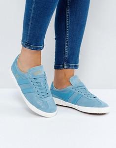 Голубые кожаные кроссовки с потрескавшимся эффектом Gola Specialist - Синий