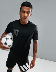 Черная футболка adidas Football 10 BQ6882 - Черный