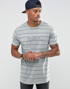 Свободная футболка G-Star Merlinos - Серый