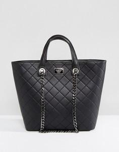 Черная стеганая сумка-тоут с цепочкой Marc B - Черный