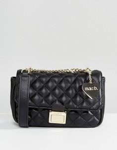 Черная стеганая сумка через плечо Marc B Pennie - Черный