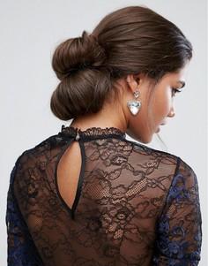 Двойная заколка-валик для волос в винтажном стиле ASOS - Коричневый